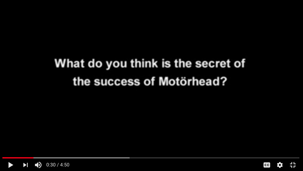 MOTORHEAD INTERVIEW CORECODILE